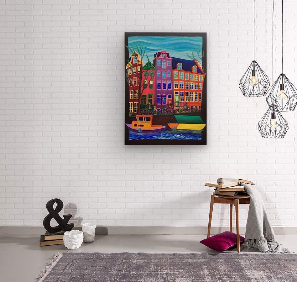 Amsterdam in November  Wood print