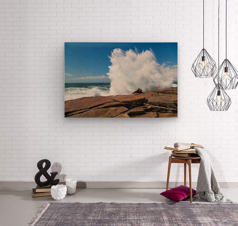 Crashing Wave ap 2309  Wood print