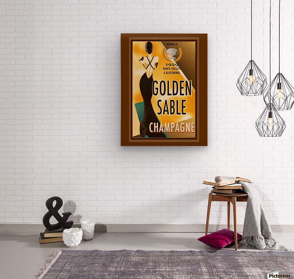 Golden Stable Champagne  Wood print