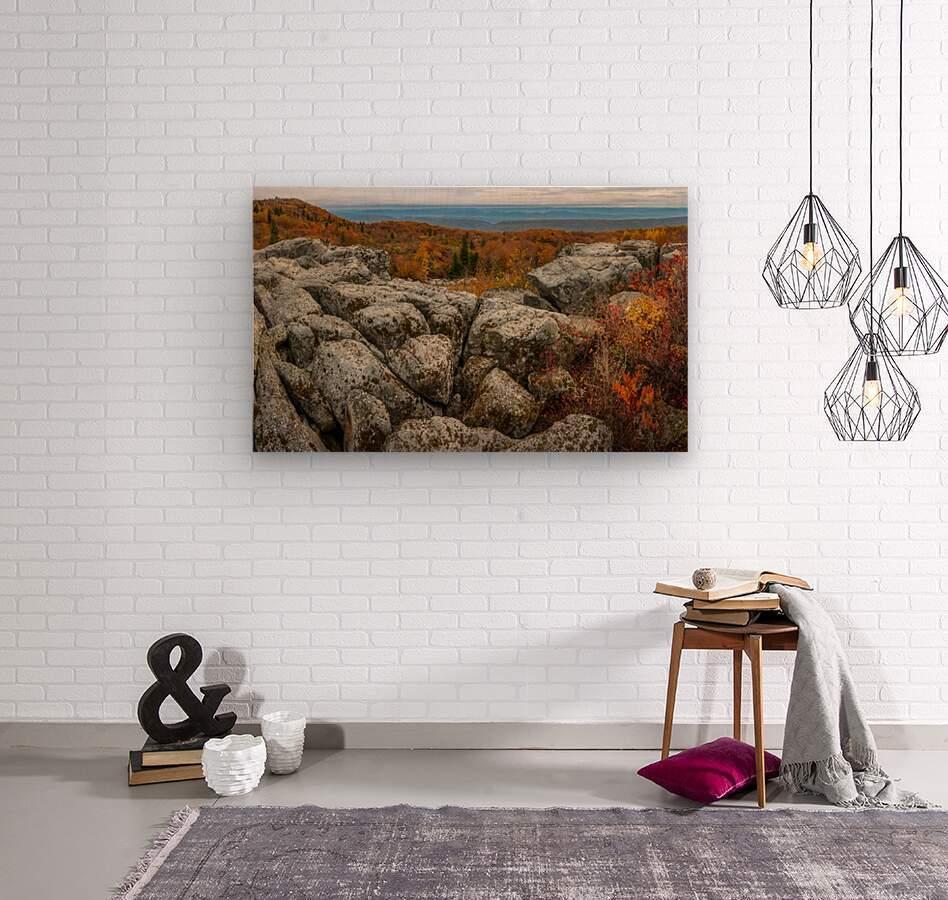 Bear Rocks Overlook apmi 1793  Wood print