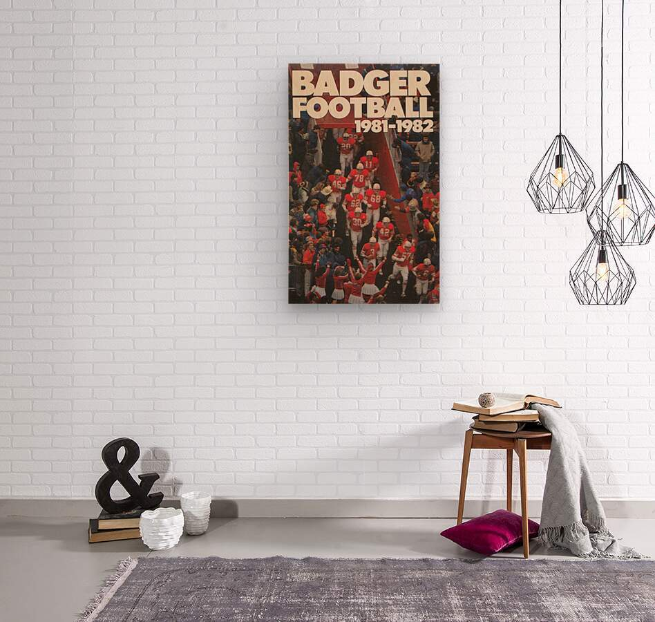 1981 Wisconsin Badgers Football Poster  Wood print