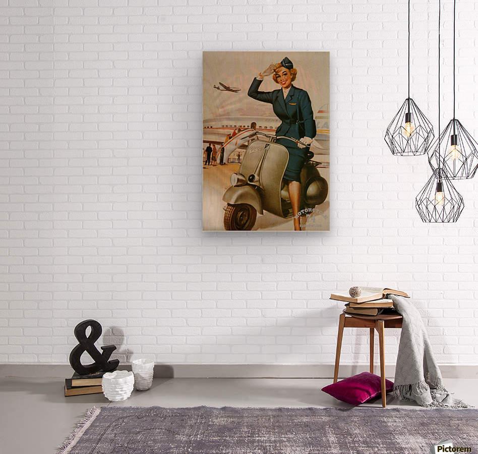 Vespa Pin Up Girl - VINTAGE POSTER Canvas