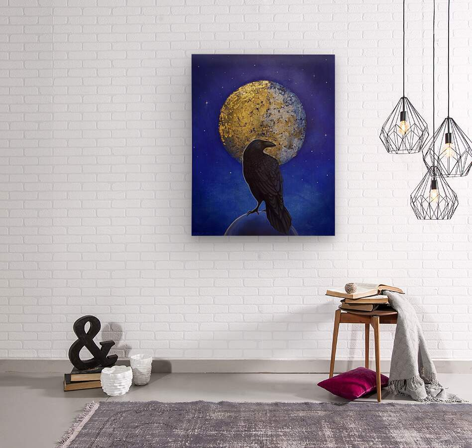 Raven Shine  Wood print