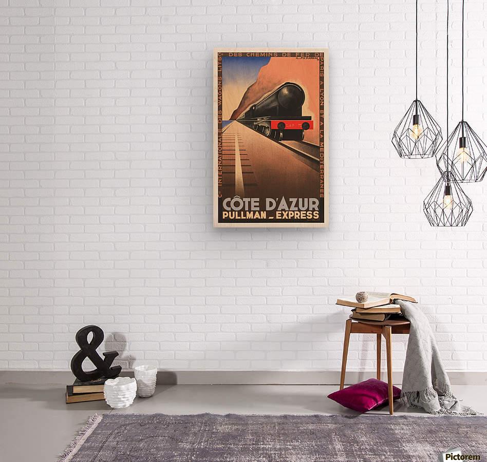 Cote D'Azur Pullman Express  Wood print