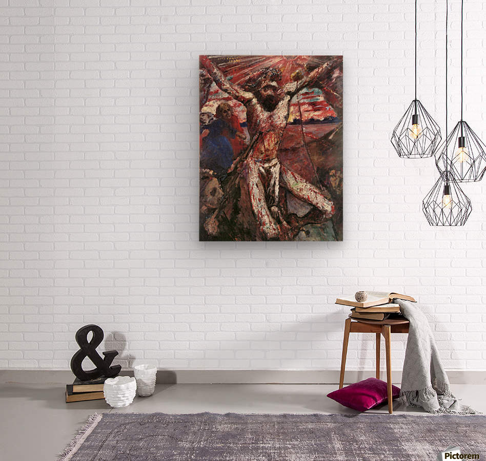 Red Christ by Lovis Corinth  Wood print