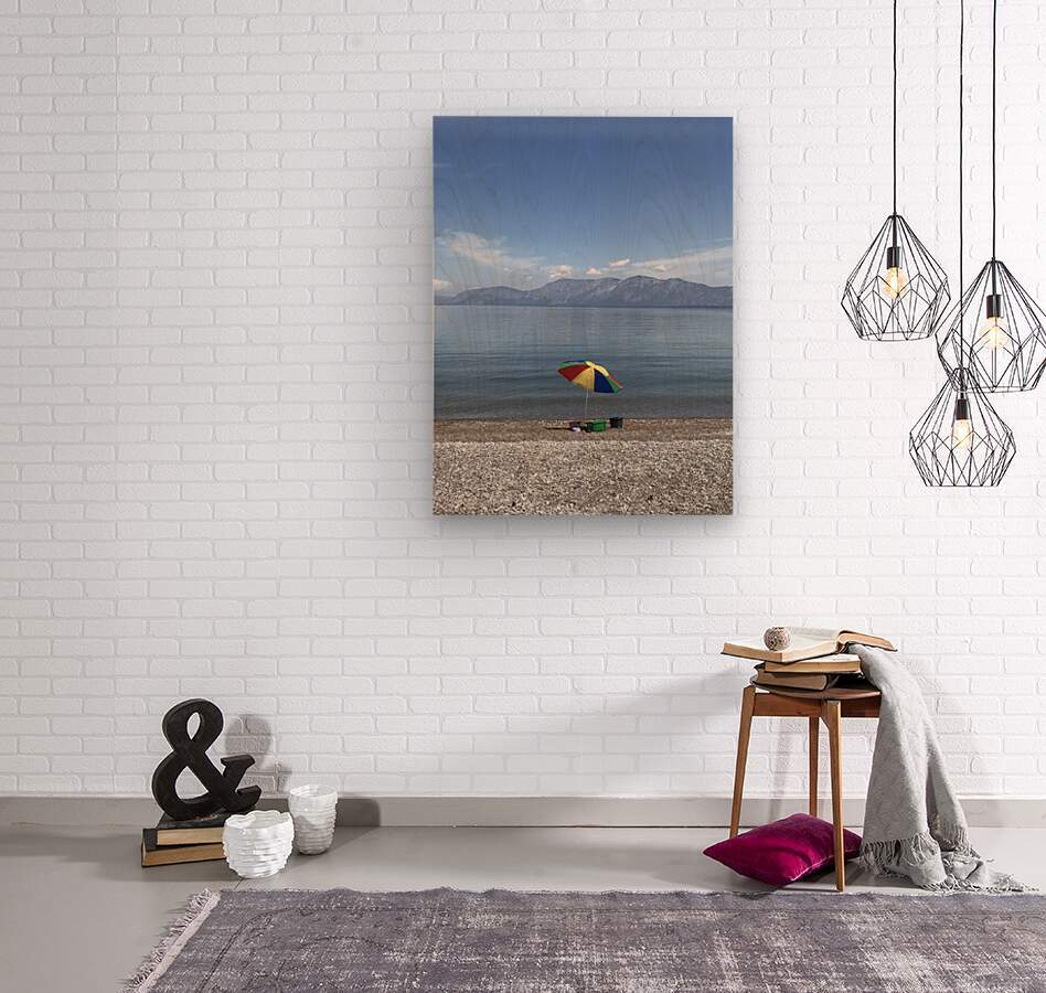 Greece the view of Evia  Wood print