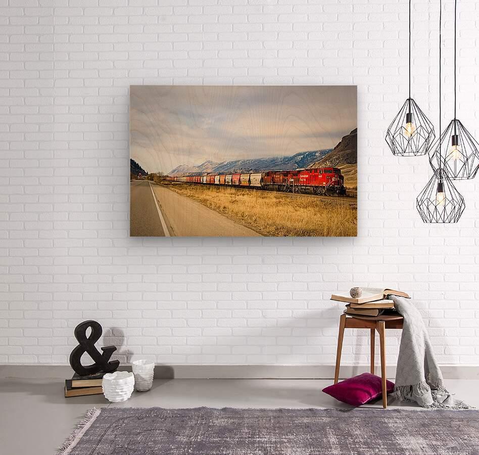 Great Canadian Railroad  Wood print