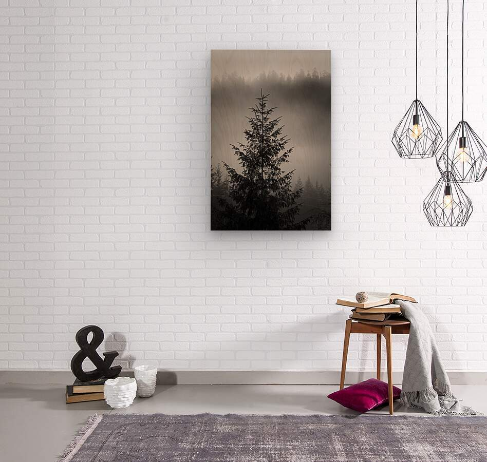 Lonliest Tree  Wood print
