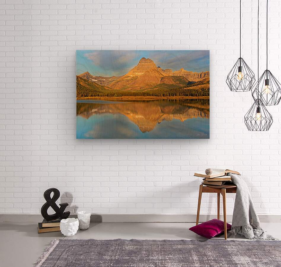 Glacier National Park Montana  Wood print