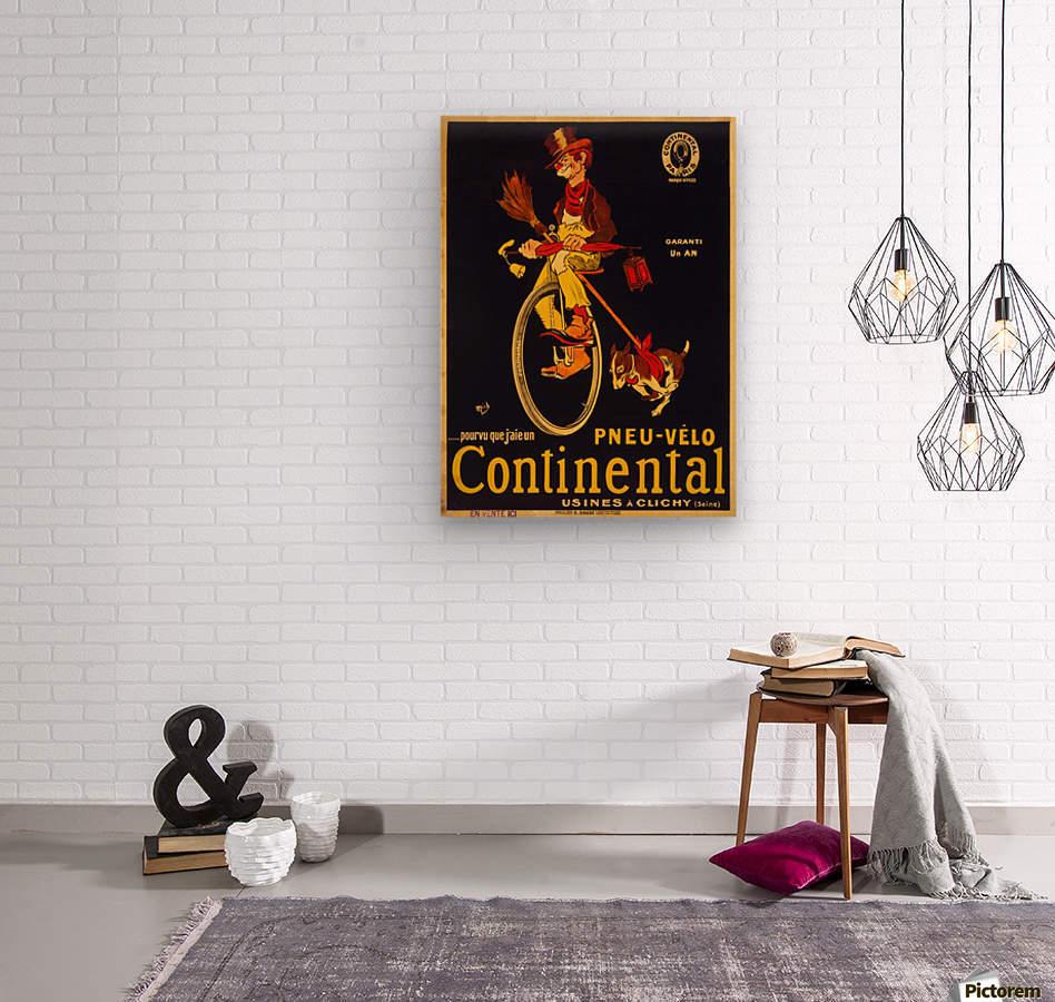 Pneu velo continental  Wood print