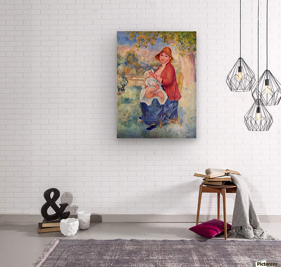 The child at the chest maternity by Renoir  Wood print