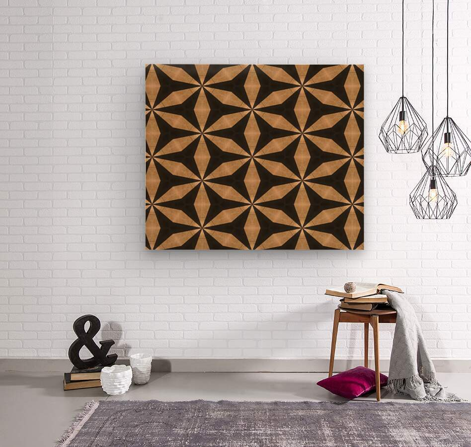 goldenstars  Wood print