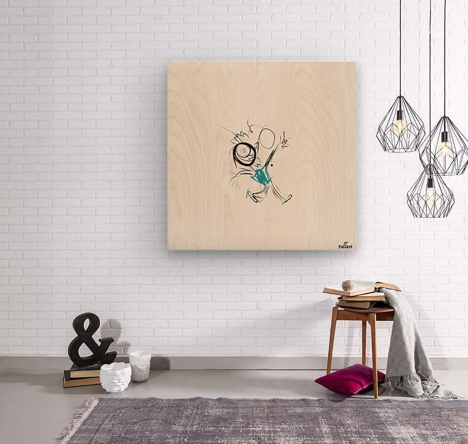 happy  Wood print