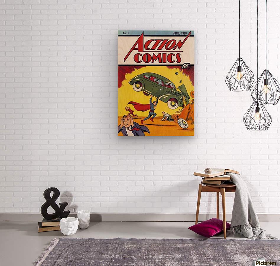 Action Comics  Wood print