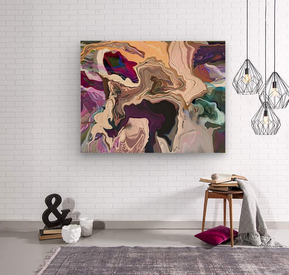 Geode Inside  Wood print
