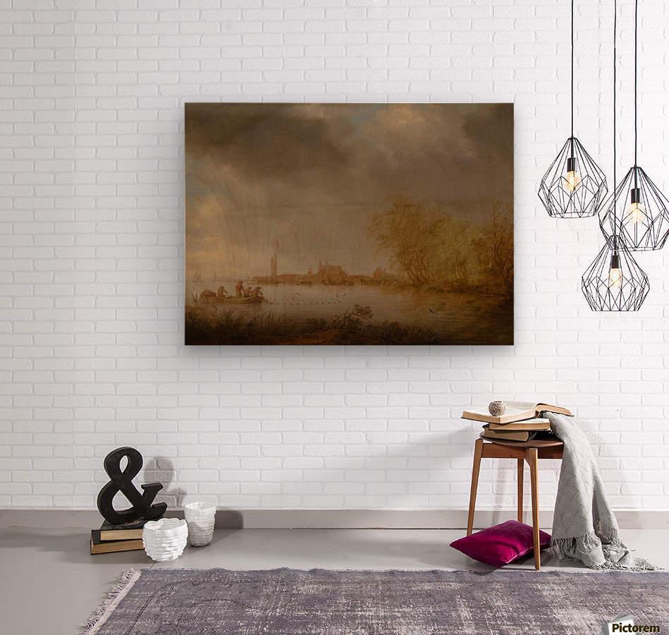 River Scene near Deventer  Wood print