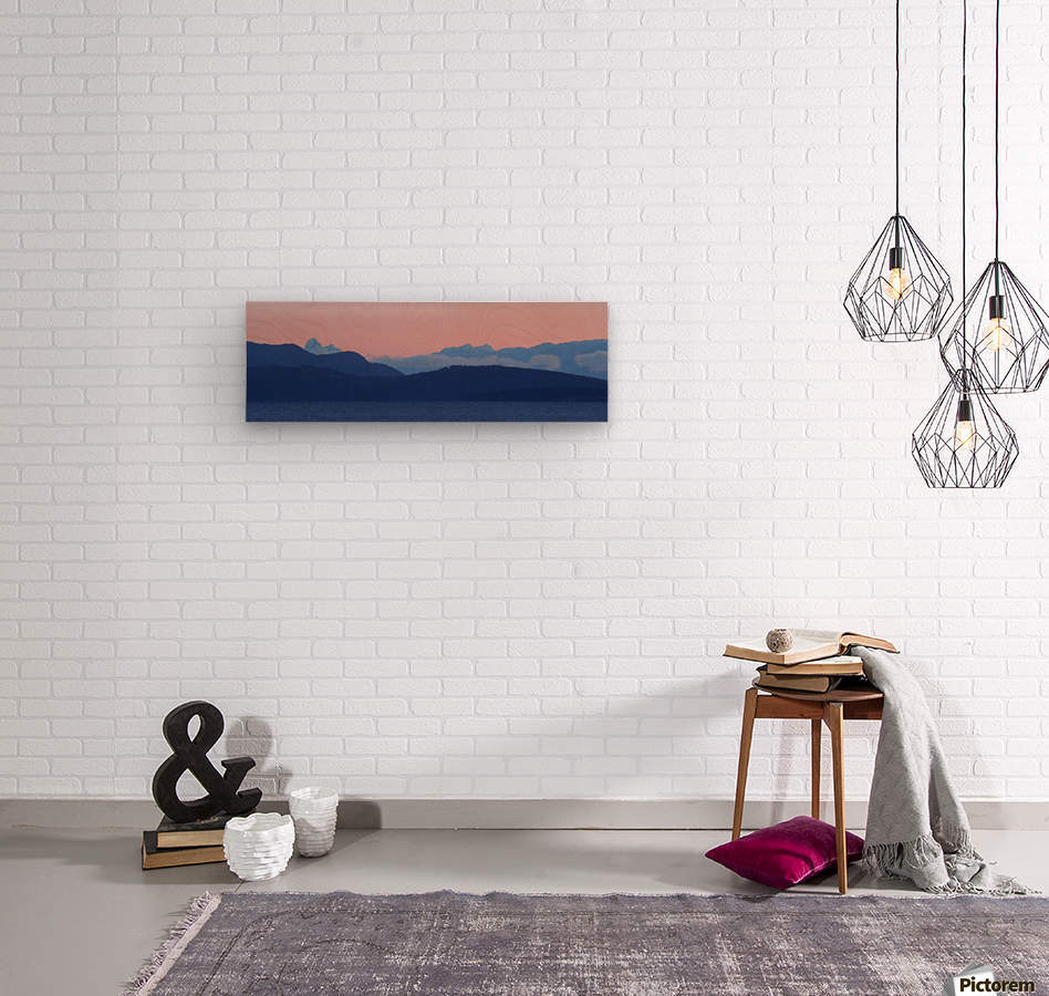 Pink And Blue by Randy Hall  Wood print