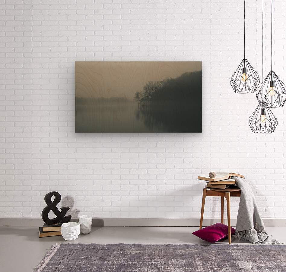 Fog and Peace  Wood print