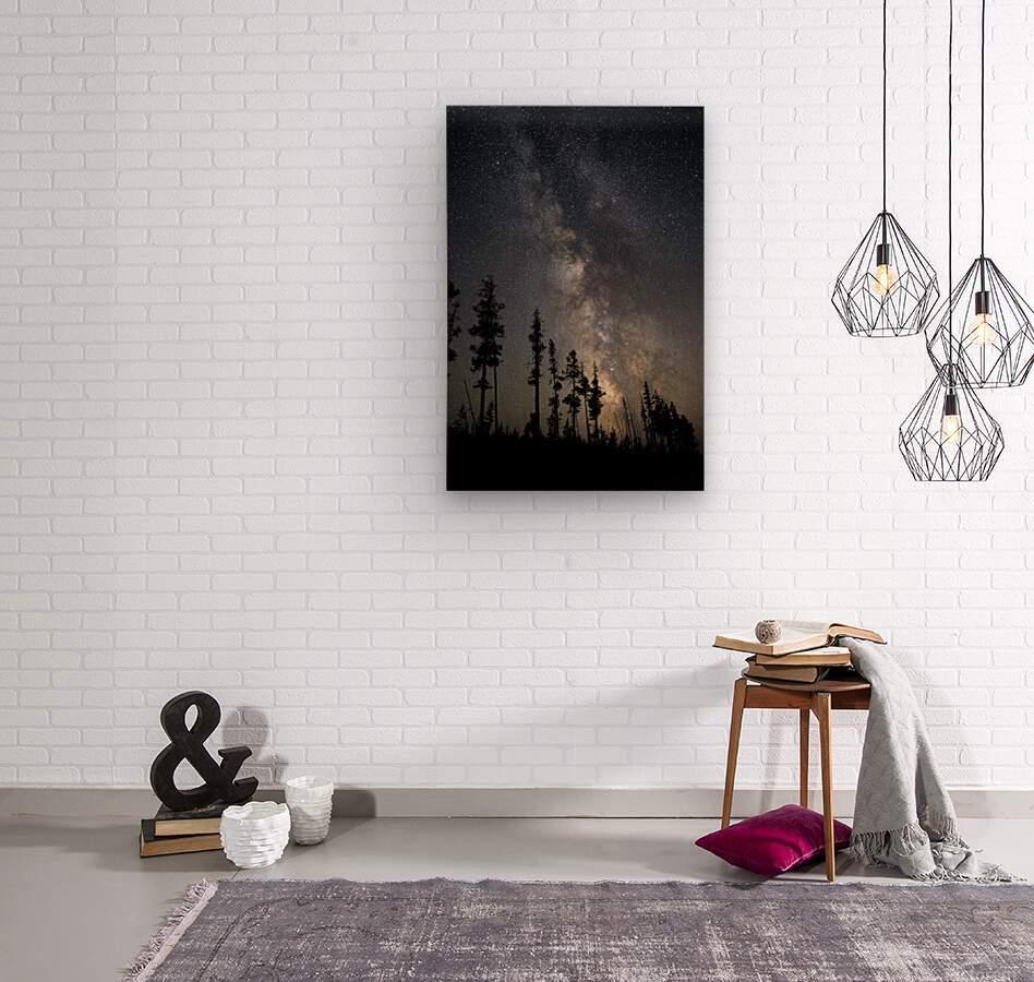 Yellowstone Milky Way  Wood print