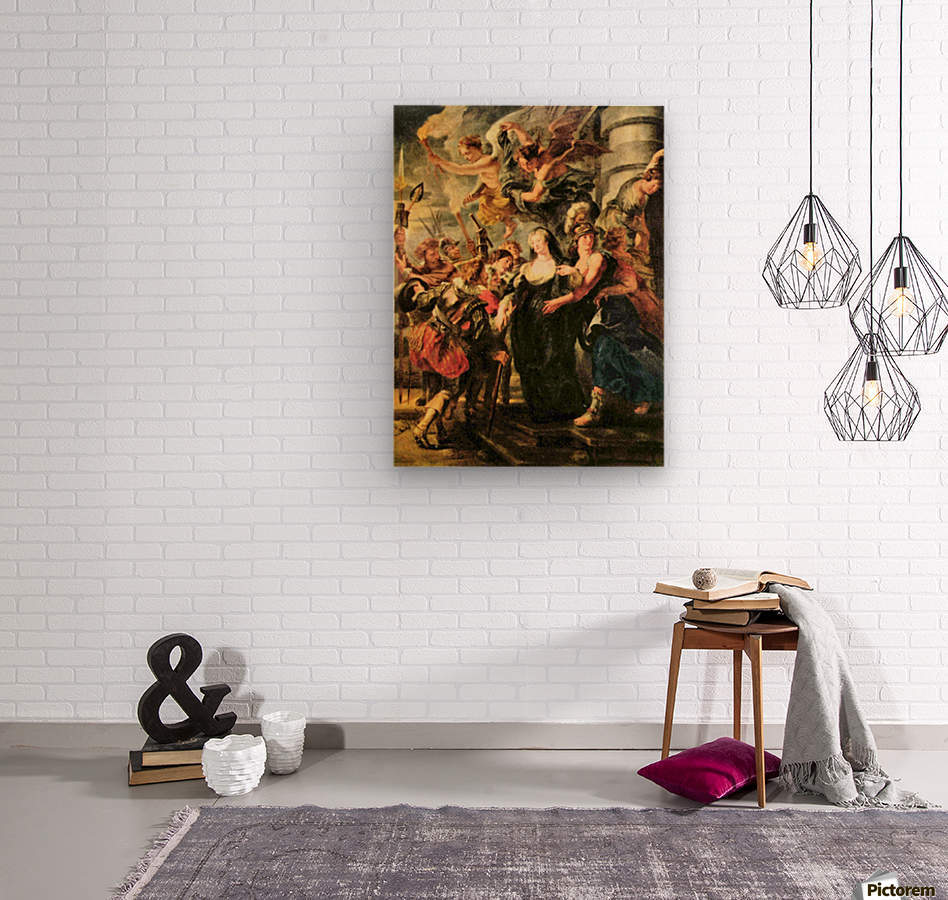 The Medici s queen escapes from Blois by Rubens  Wood print