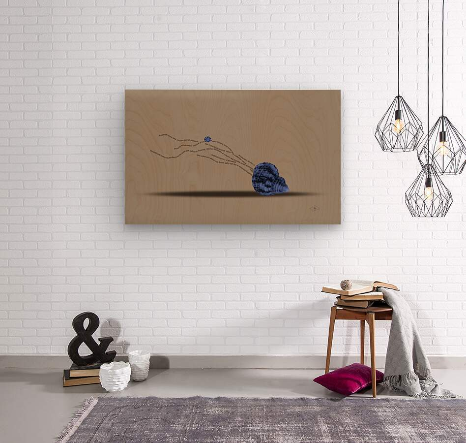 Plankton  Wood print