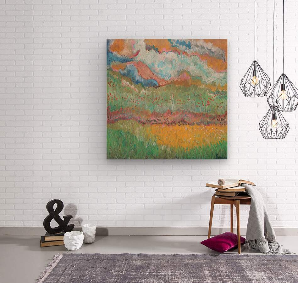 Colors in Nature  Wood print