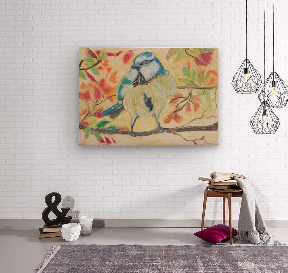 Angrybird  Wood print