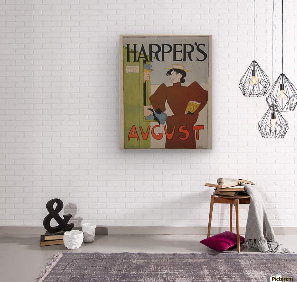 Harper's August Bathing  Wood print