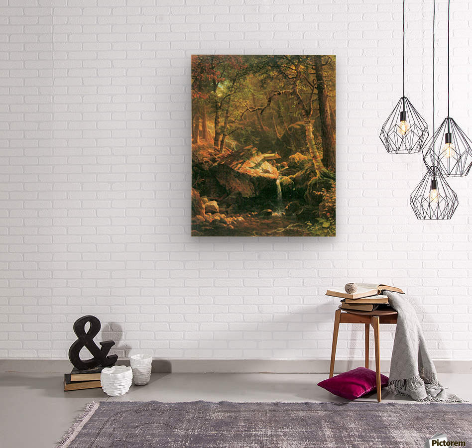 The Mountain by Bierstadt  Wood print