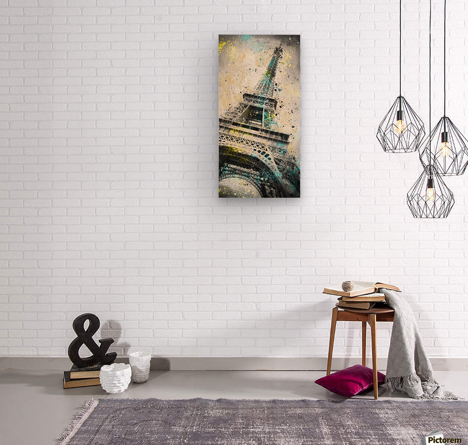 City-Art PARIS Eiffel Tower IV  Wood print