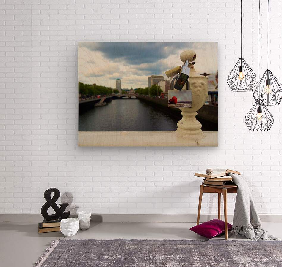 Love Dublin   Wood print