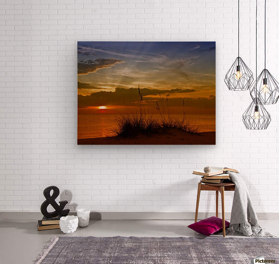 Gorgeous Sunset  Wood print