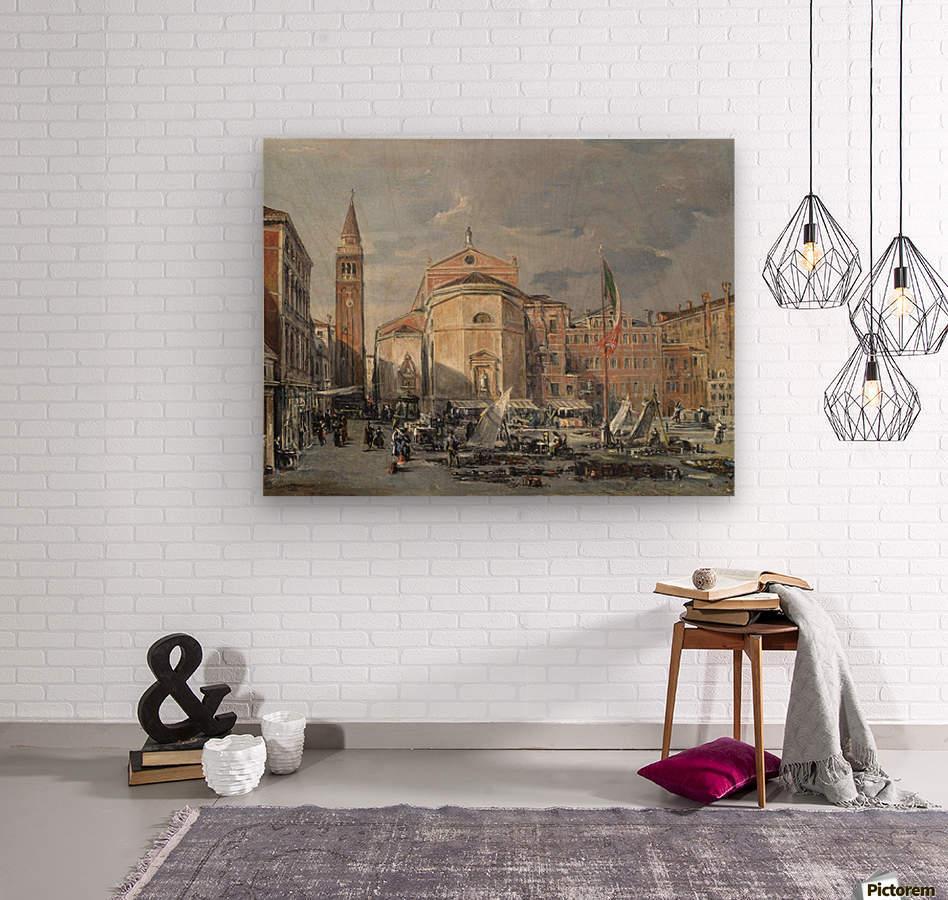 A Venetian square  Wood print