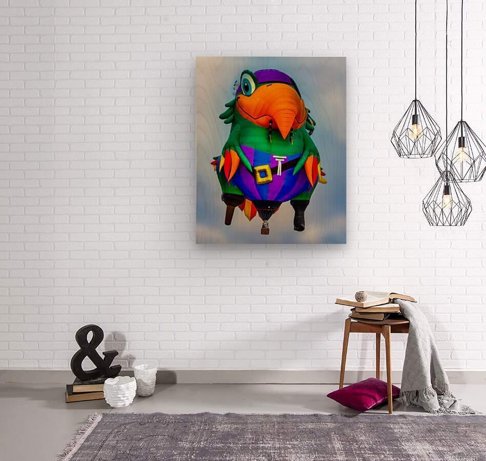 Pirate Parrot Adventures  Wood print
