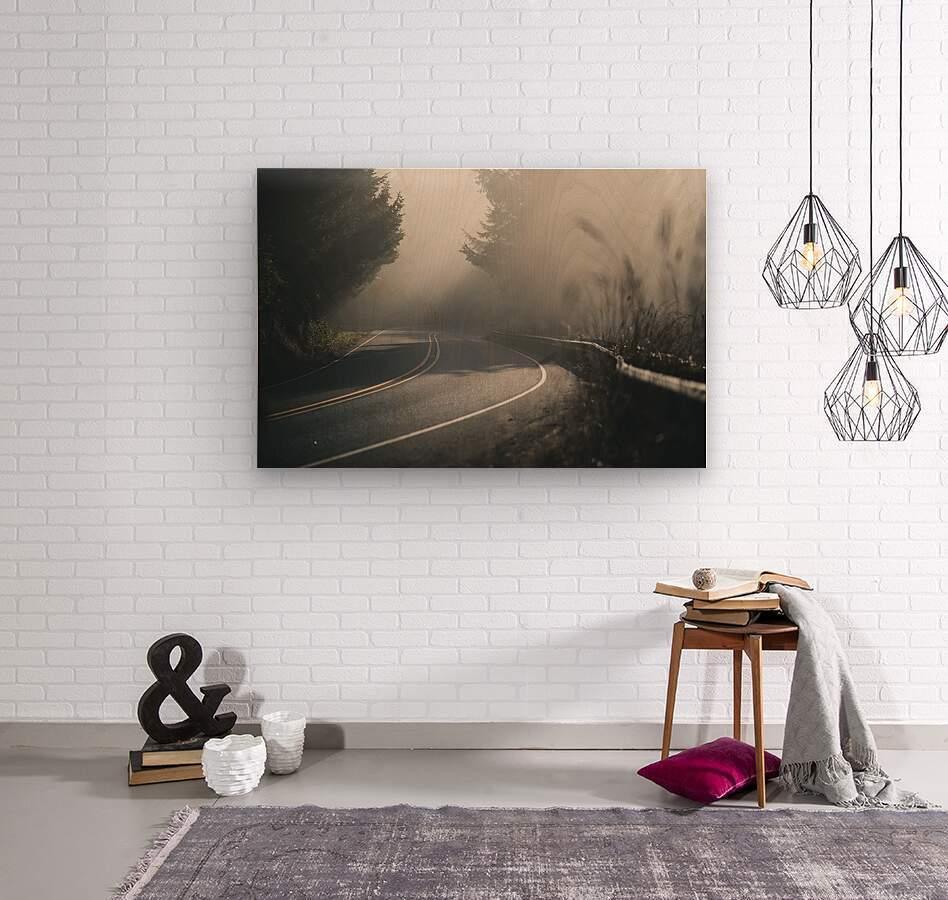 Pacific Coast Highway Mist  Wood print