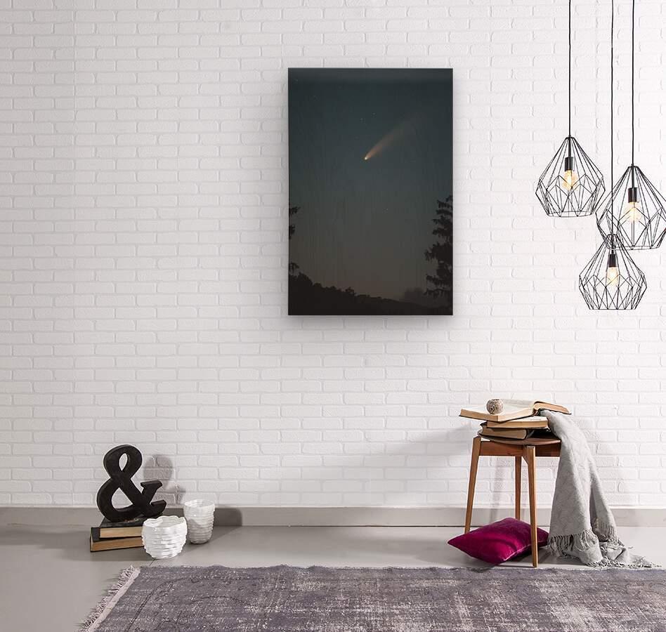 Comet NEOWISE  Wood print