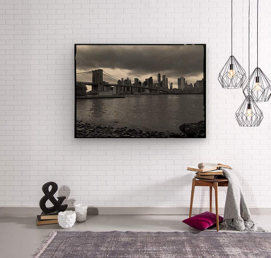 Gotham City   Wood print