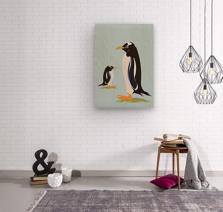 Gento Penguin  Wood print