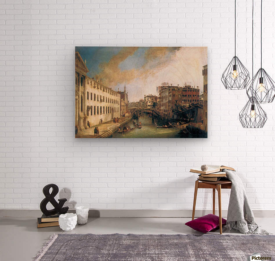 The River of Mendicanti by Canaletto  Wood print