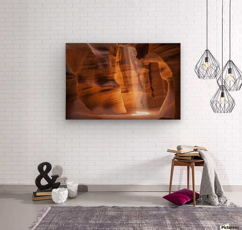 ANTELOPE CANYON Gorgeous Light Beam  Wood print