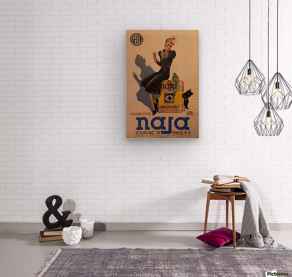 Advertisement Poster for Naja by Lelong, 1939  Wood print
