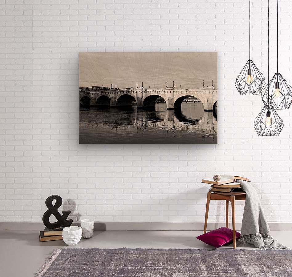 Pont Neuf Reflection  Impression sur bois