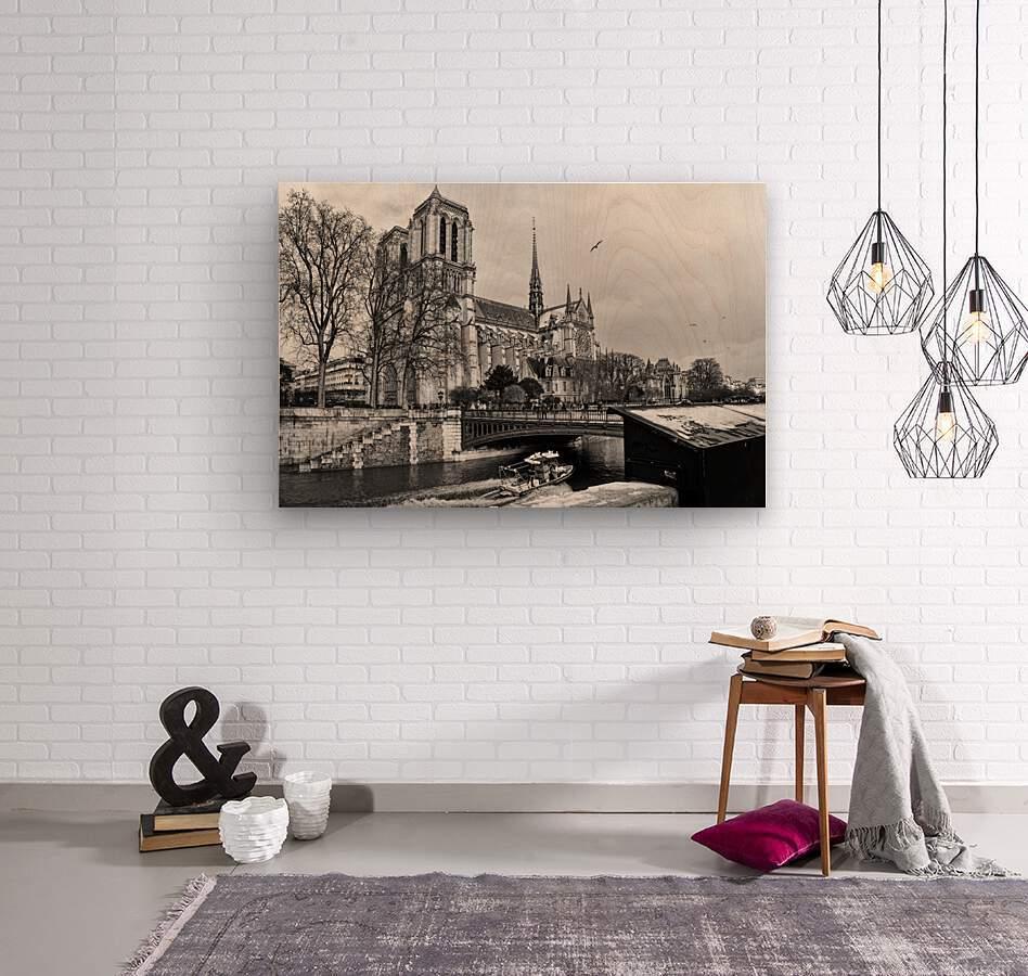Parisian river police  Impression sur bois