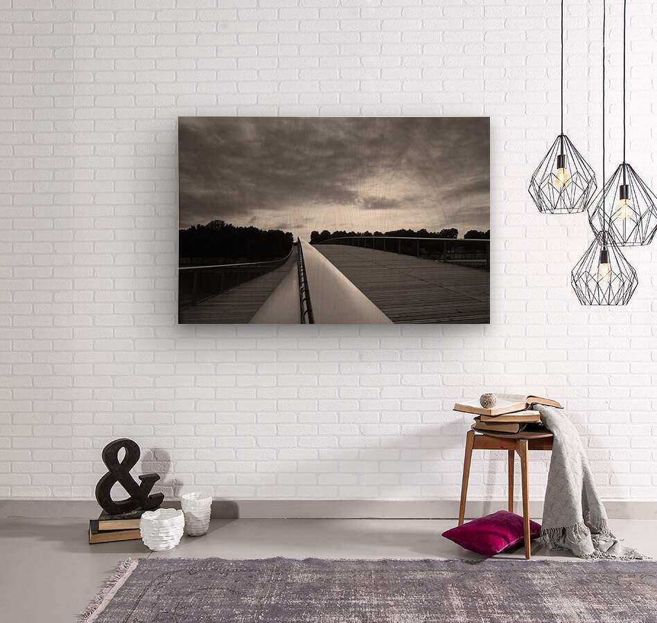 Follow the light  Impression sur bois