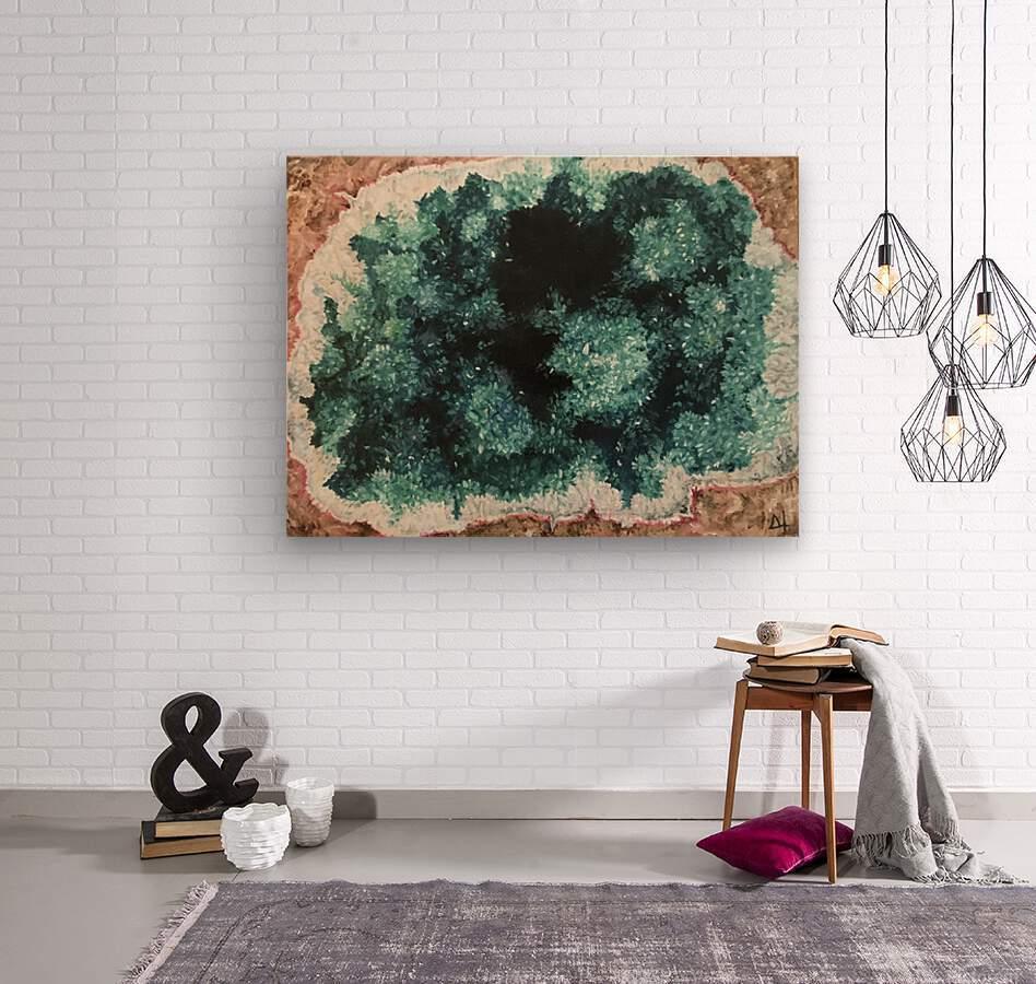 Green Geode  Wood print