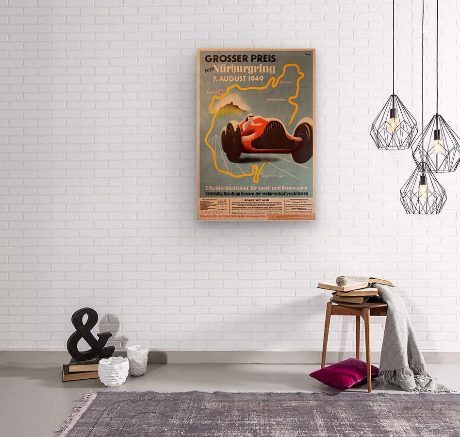 Original Vintage Sports Car Racing Poster For The 1949 Nurburgring Grand Prix Vintage Poster Canvas Artwork