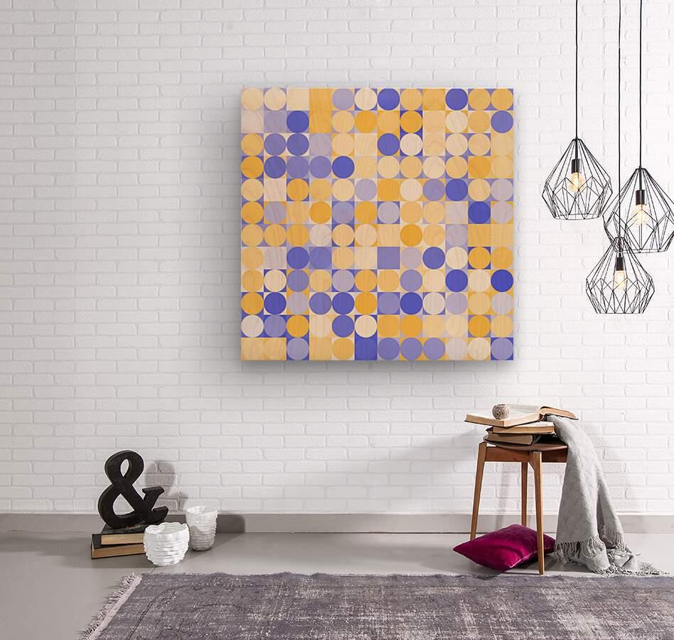 Geometric Art pattern  Wood print