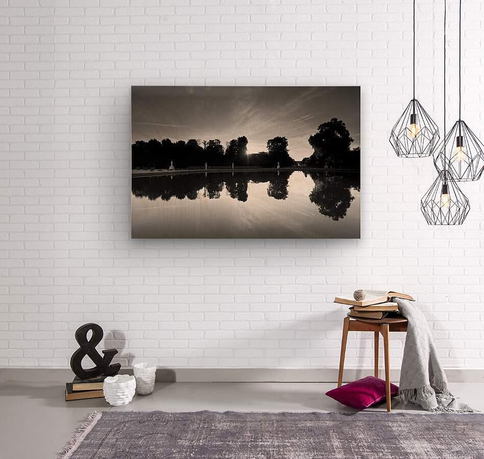Tuileries reflection  Impression sur bois