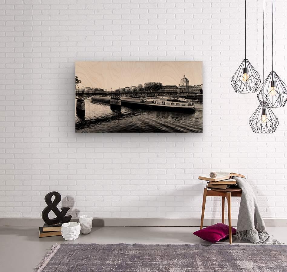 Under the Pont des Arts  Impression sur bois