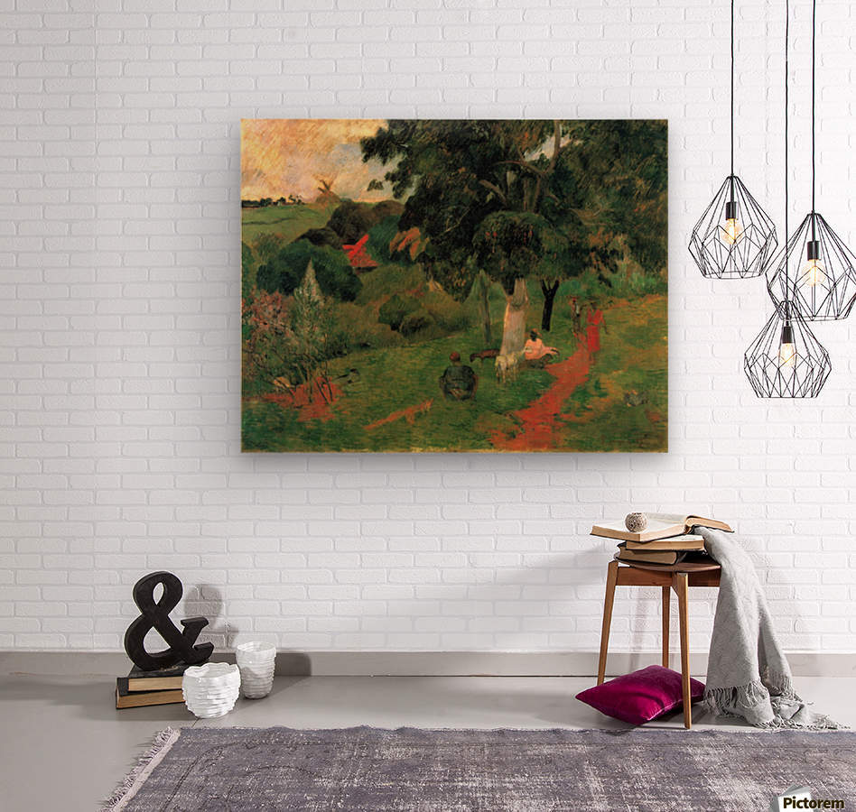 To and Fro by Gauguin  Wood print